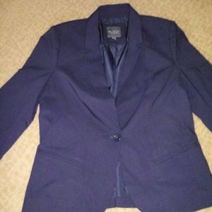 The Limited blue one-button blazer